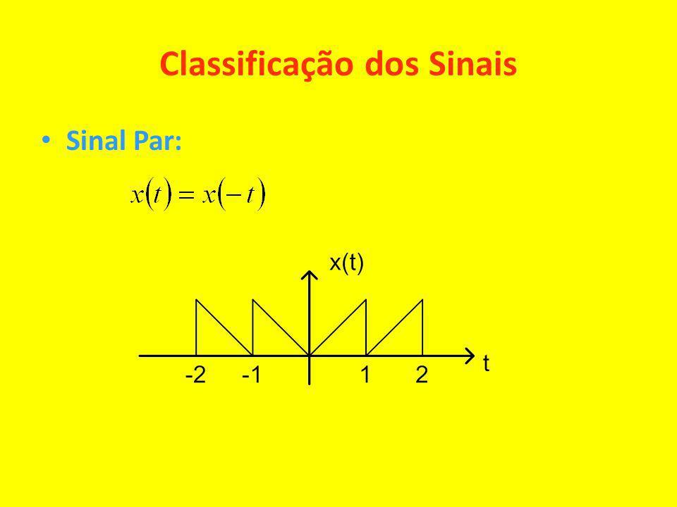 Classificação dos Sinais Sinal Par: