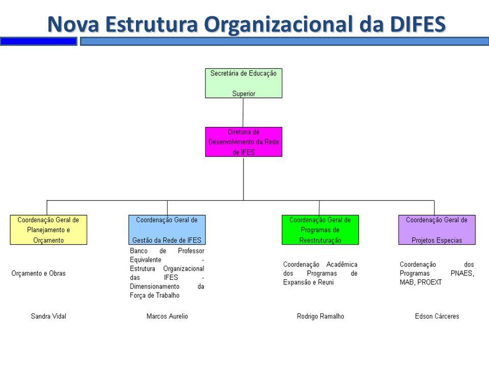 Nova Estrutura Organizacional da DIFES