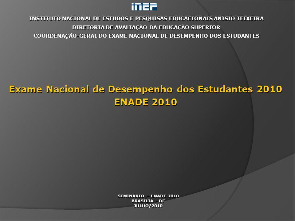 INSTITUTO NACIONAL DE ESTUDOS E PESQUISAS EDUCACIONAIS ANÍSIO TEIXEIRA DIRETORIA DE AVALIAÇÃO DA EDUCAÇÃO SUPERIOR COORDENAÇÃO-GERAL DO EXAME NACIONAL