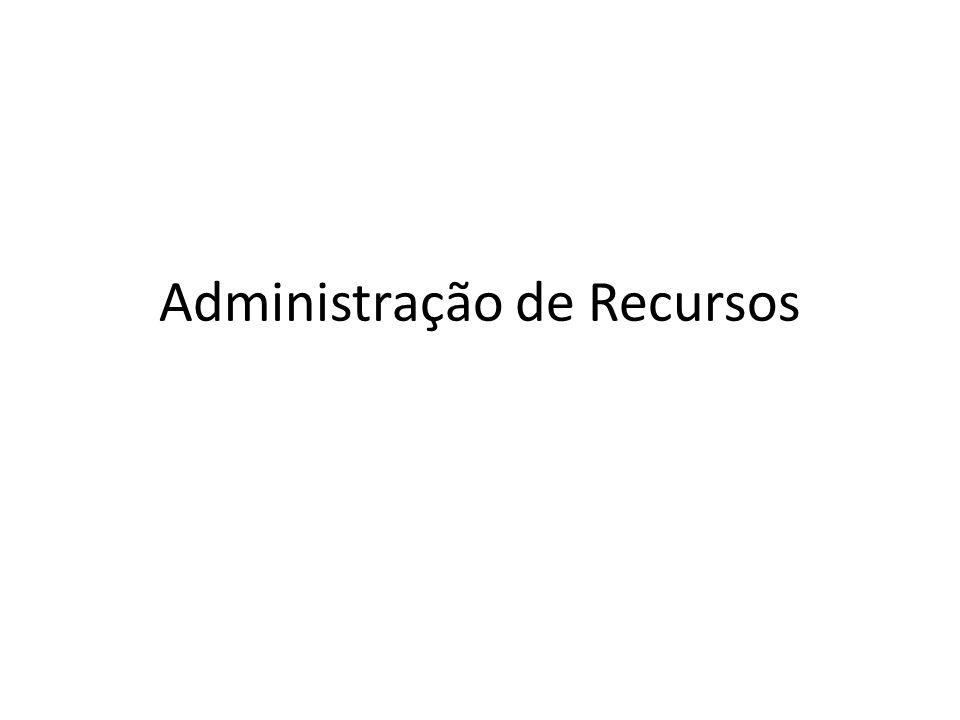 Administração de Recursos