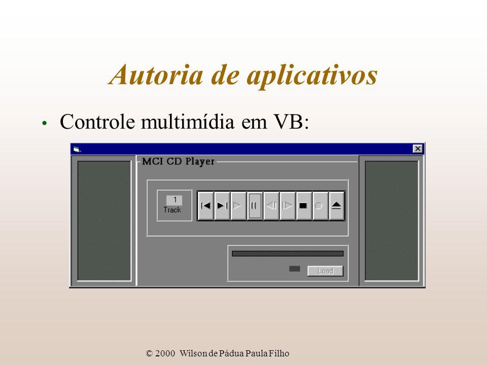 © 2000 Wilson de Pádua Paula Filho Autoria de aplicativos Controle multimídia em VB: