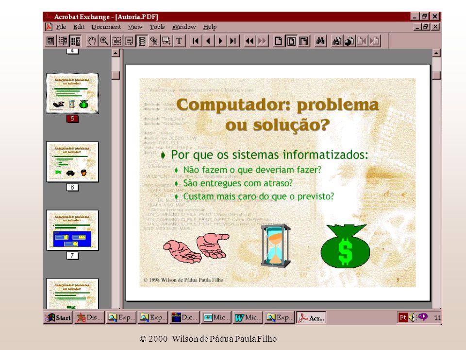 © 2000 Wilson de Pádua Paula Filho Autoria de títulos