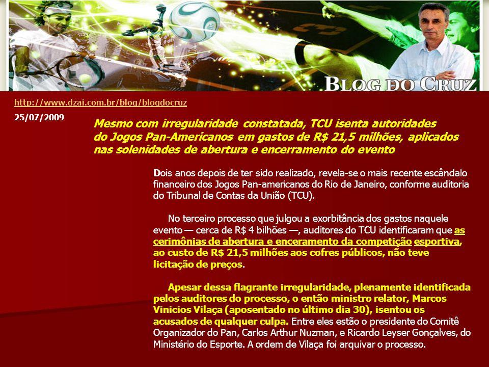 Dois anos depois de ter sido realizado, revela-se o mais recente escândalo financeiro dos Jogos Pan-americanos do Rio de Janeiro, conforme auditoria do Tribunal de Contas da União (TCU).