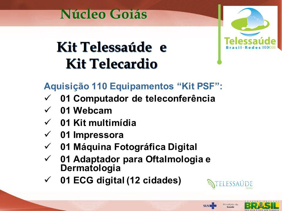 Secretaria de Gestão do Trabalho e da Educação na Saúde Aquisição 110 Equipamentos Kit PSF: 01 Computador de teleconferência 01 Webcam 01 Kit multimíd