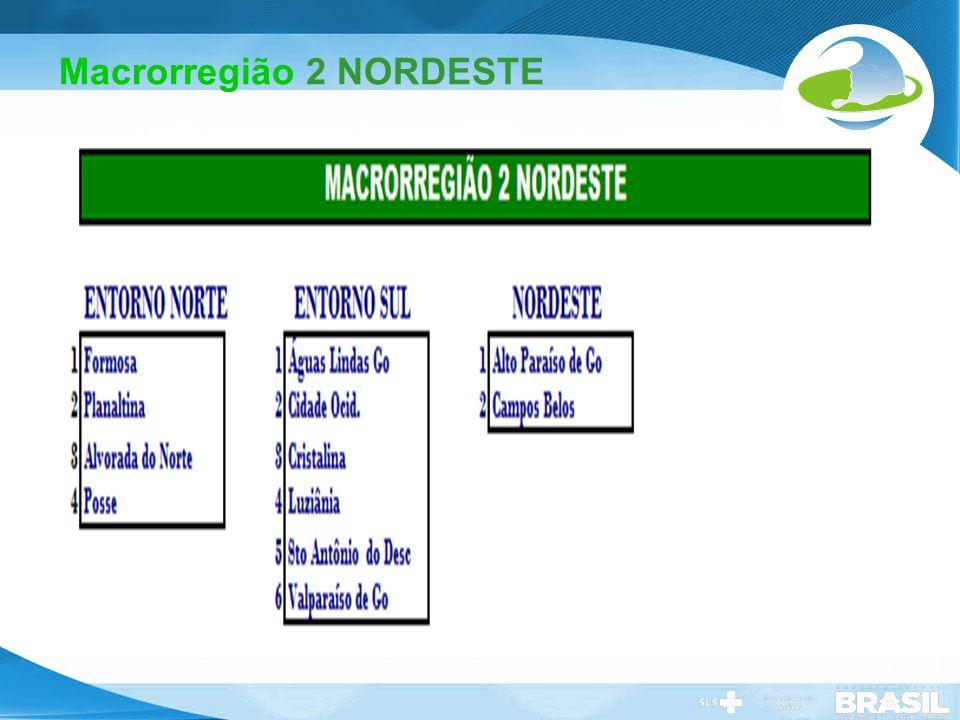 Secretaria de Gestão do Trabalho e da Educação na Saúde Macrorregião 2 NORDESTE