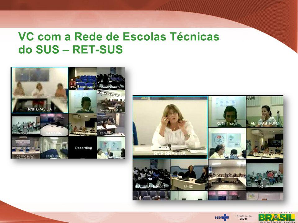 Secretaria de Gestão do Trabalho e da Educação na Saúde VC com a Rede de Escolas Técnicas do SUS – RET-SUS