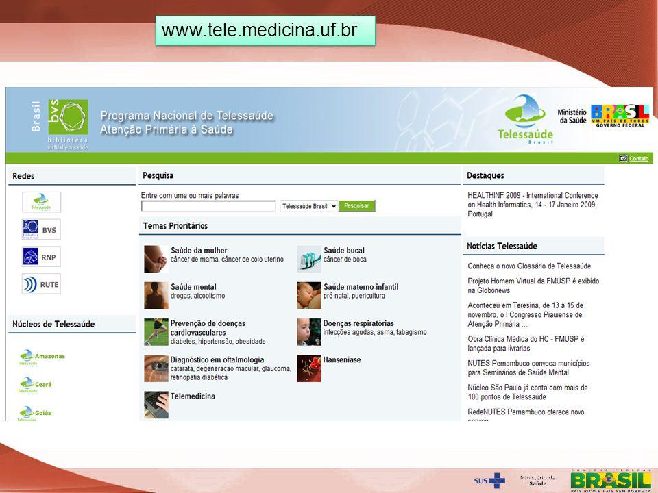 Secretaria de Gestão do Trabalho e da Educação na Saúde www.tele.medicina.uf.br