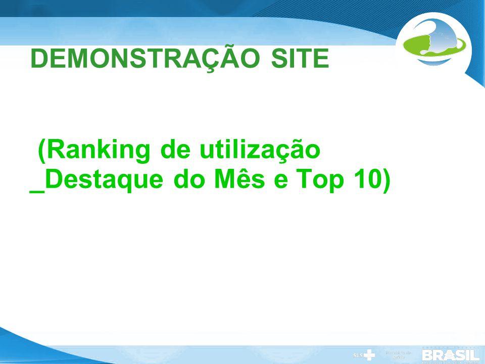 Secretaria de Gestão do Trabalho e da Educação na Saúde DEMONSTRAÇÃO SITE (Ranking de utilização _Destaque do Mês e Top 10)