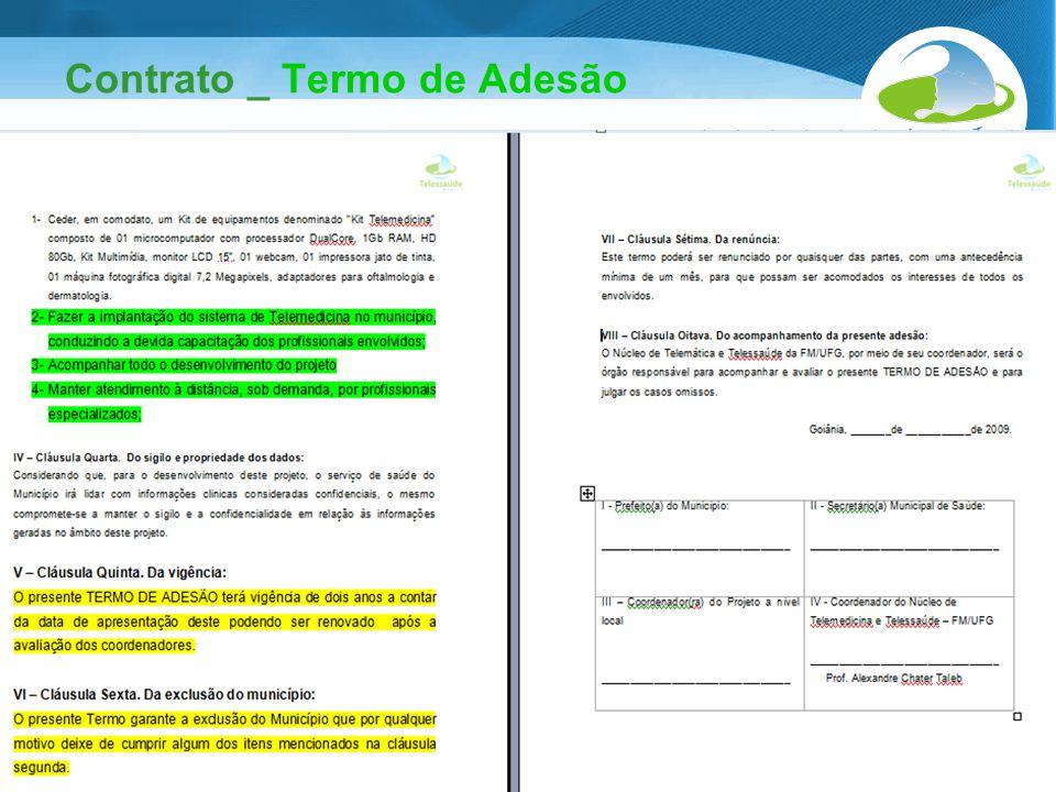 Secretaria de Gestão do Trabalho e da Educação na Saúde Contrato _ Termo de Adesão