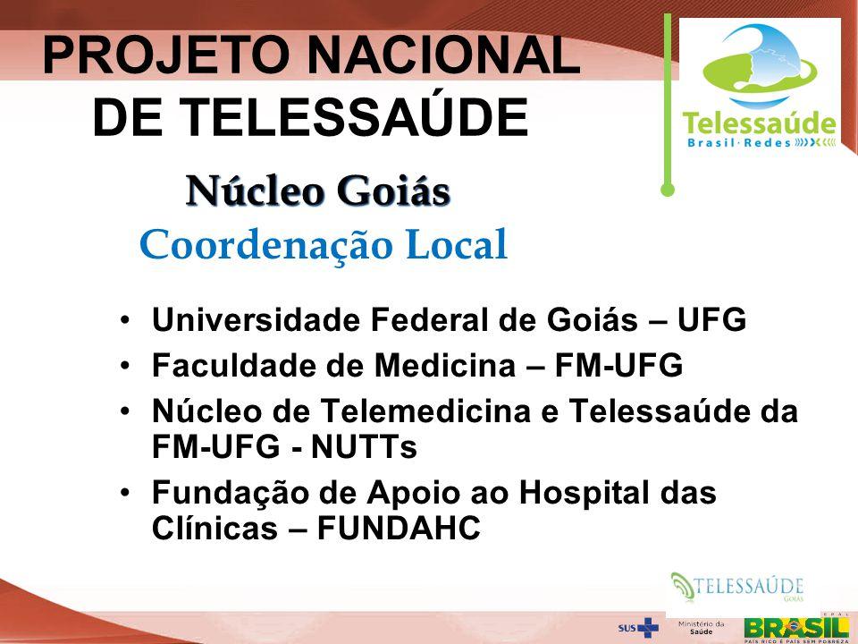 Secretaria de Gestão do Trabalho e da Educação na Saúde Universidade Federal de Goiás – UFG Faculdade de Medicina – FM-UFG Núcleo de Telemedicina e Te