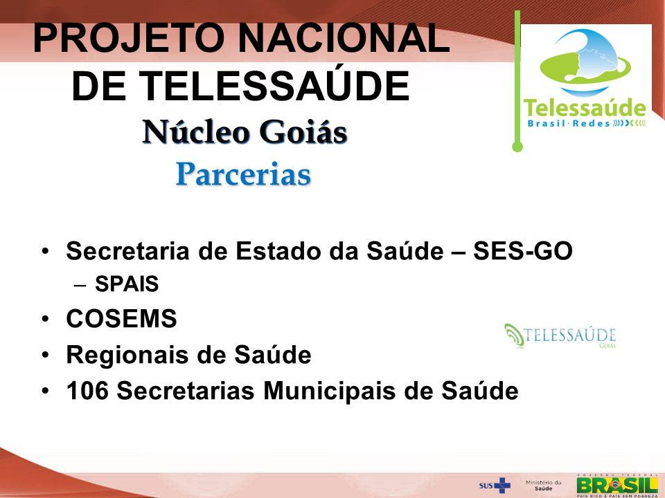 Secretaria de Gestão do Trabalho e da Educação na Saúde Secretaria de Estado da Saúde – SES-GO –SPAIS COSEMS Regionais de Saúde 106 Secretarias Munici