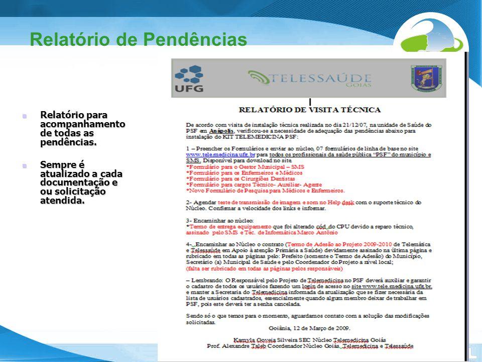 Secretaria de Gestão do Trabalho e da Educação na Saúde Relatório de Pendências Relatório para acompanhamento de todas as pendências. Relatório para a