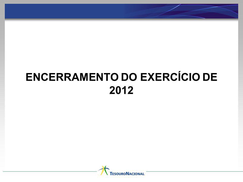 ENCERRAMENTO DO EXERCÍCIO DE 2012