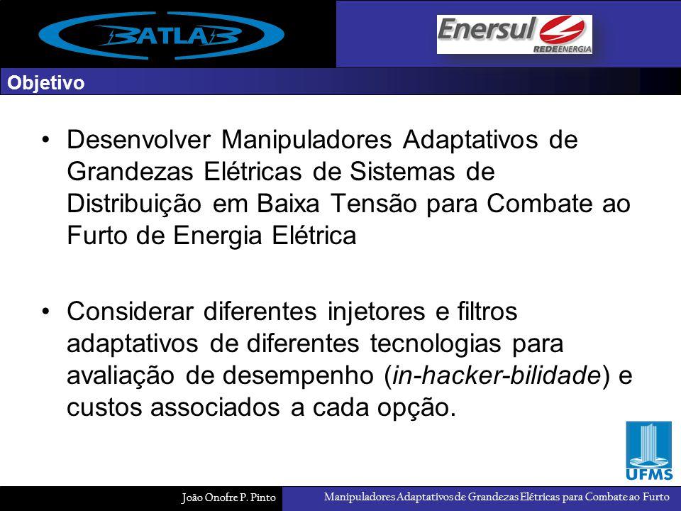 Manipuladores Adaptativos de Grandezas Elétricas para Combate ao Furto João Onofre P. Pinto Objetivo Desenvolver Manipuladores Adaptativos de Grandeza