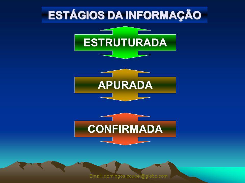 Email: domingos.poubel@globo.com ESTÁGIOS DA INFORMAÇÃO ESTRUTURADA APURADA CONFIRMADA
