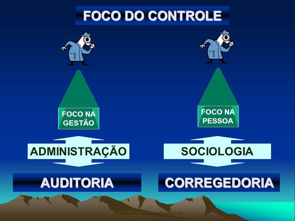 FOCO DO CONTROLE FOCO NA GESTÃO FOCO NA PESSOA ADMINISTRAÇÃO SOCIOLOGIA AUDITORIACORREGEDORIA