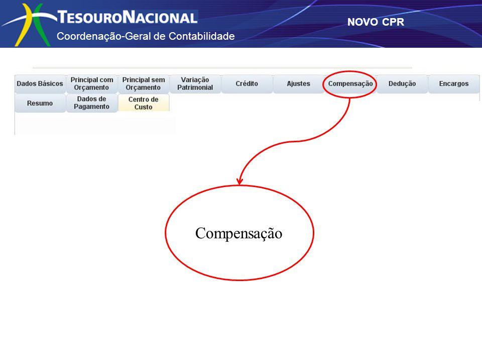 Coordenação-Geral de Contabilidade NOVO CPR Compensação