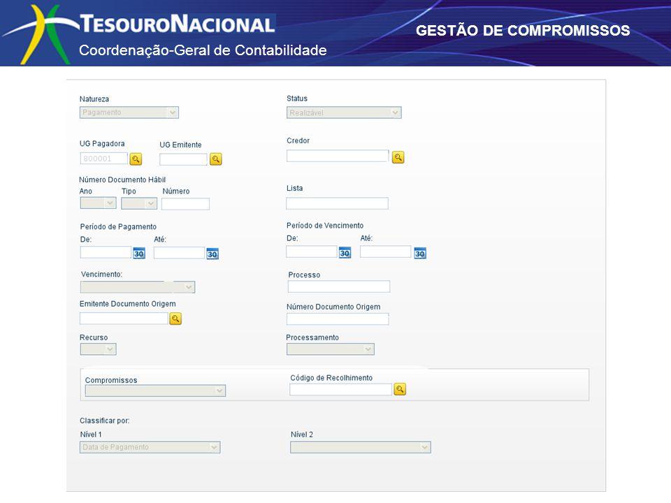 Coordenação-Geral de Contabilidade GESTÃO DE COMPROMISSOS
