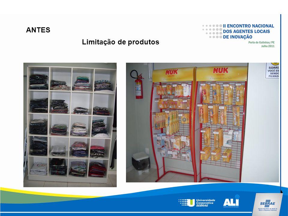 Limitação de produtos ANTES