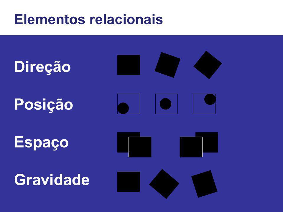 Elementos relacionais Direção Posição Espaço Gravidade