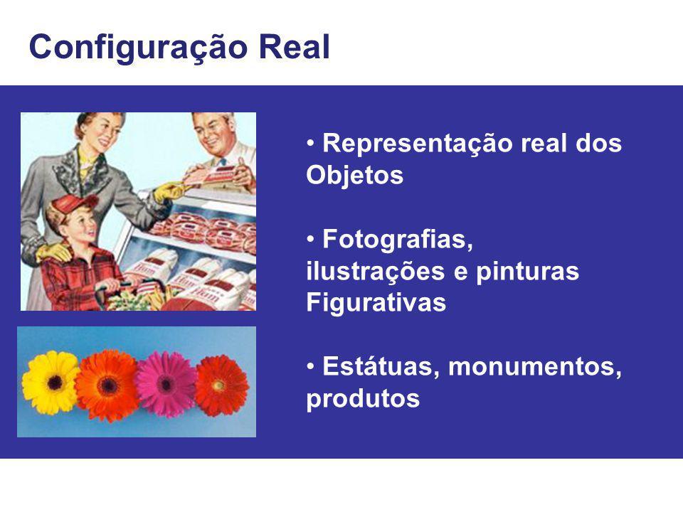Configuração Real Representação real dos Objetos Fotografias, ilustrações e pinturas Figurativas Estátuas, monumentos, produtos