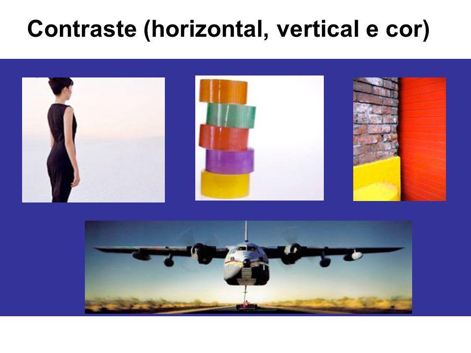 Contraste (horizontal, vertical e cor)
