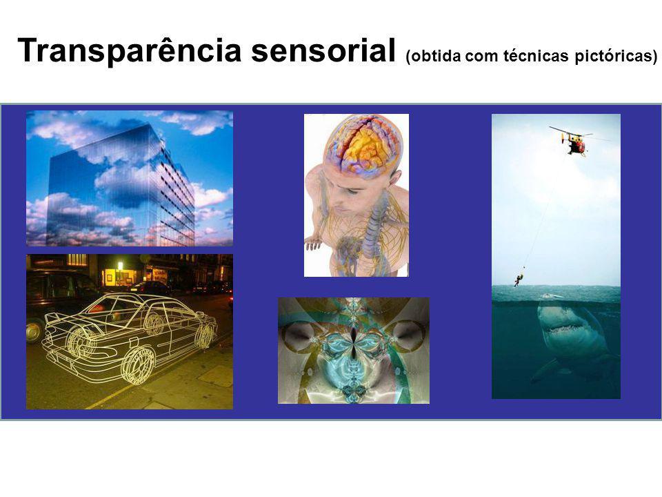 Transparência sensorial (obtida com técnicas pictóricas)