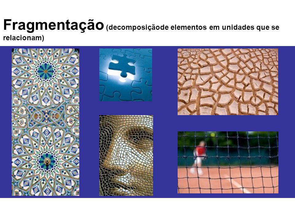Fragmentação (decomposiçãode elementos em unidades que se relacionam)