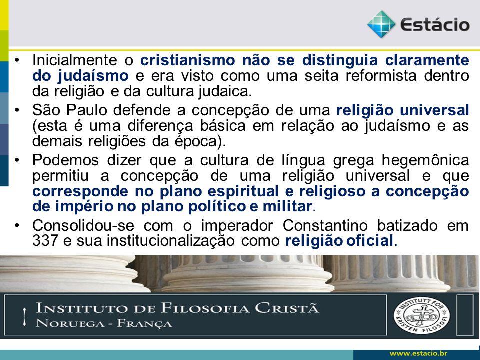 Entretanto não havia ainda uma unidade no cristianismo, mas a filosofia grega terá uma importância fundamental nesse processo, quando as discussões levaram a formulação de uma unidade doutrinária hegemônica, ortodoxa.