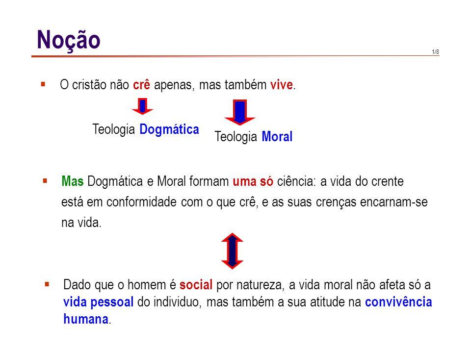 2/8 Noção A moral cristã é una moral revelada.