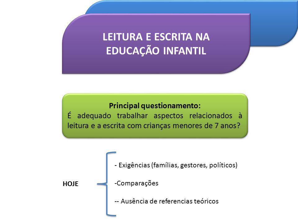 Alguns pressupostos para o trabalho com a linguagem escrita na Educação Infantil, devem ser considerados: A Educação Infantil possui uma identidade própria constituída a partir das características das crianças.