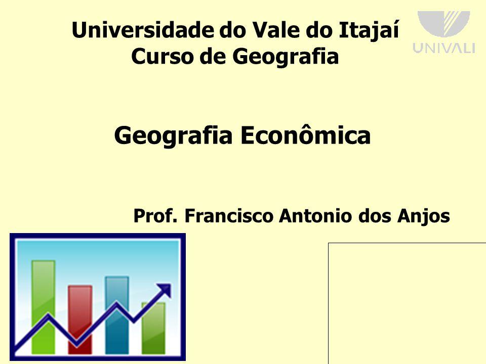 Universidade do Vale do Itajaí Curso de Geografia Prof.
