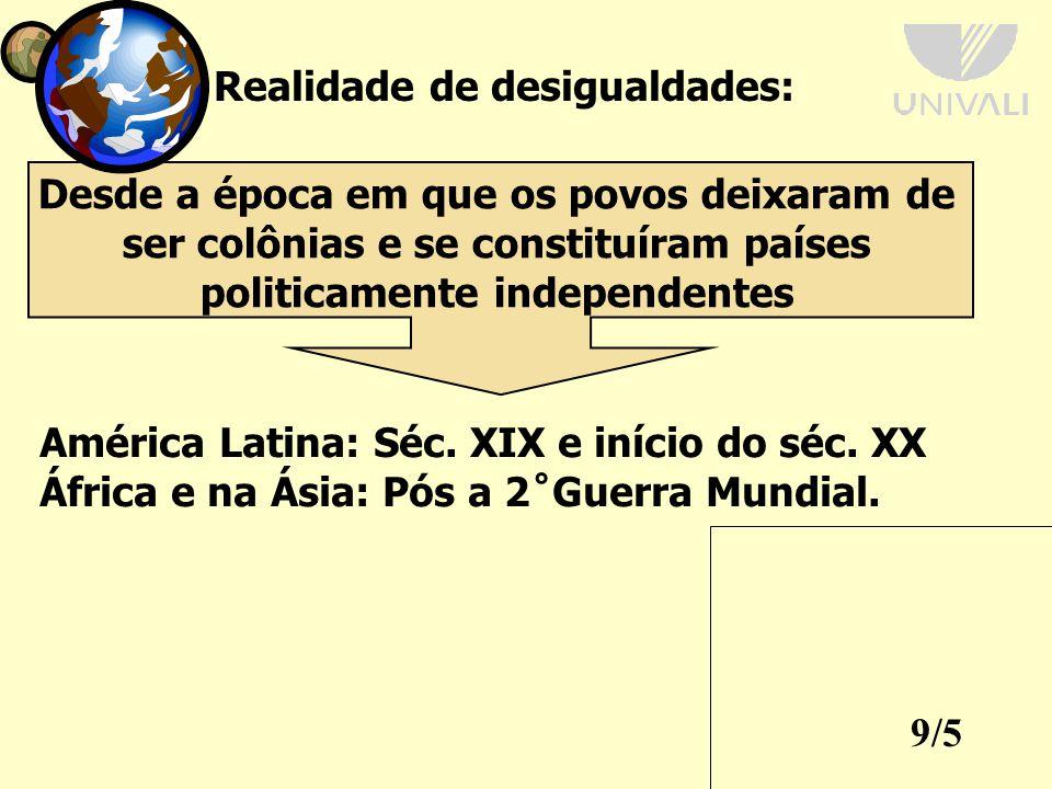9/5 Realidade de desigualdades: América Latina: Séc.