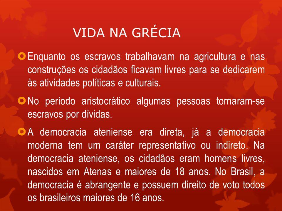  Na Grécia, os cidadãos não elegiam representantes.