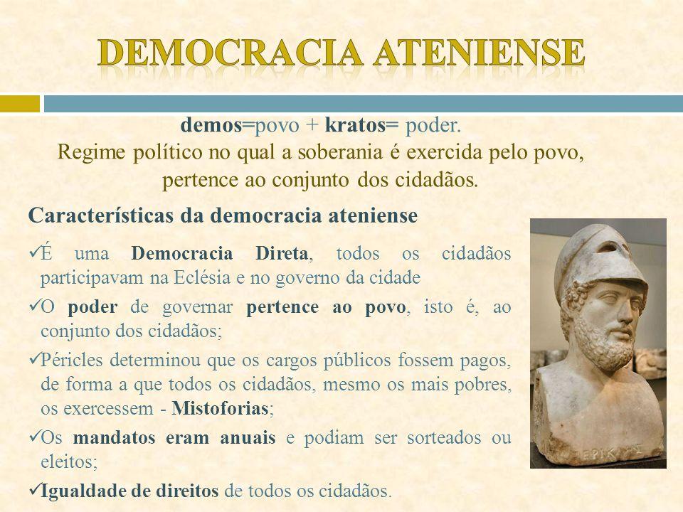 """""""O nome desse regime é democracia, porque procura satisfazer o maior número de pessoas e não apenas uma minoria. As nossas leis concedem os mesmos dir"""