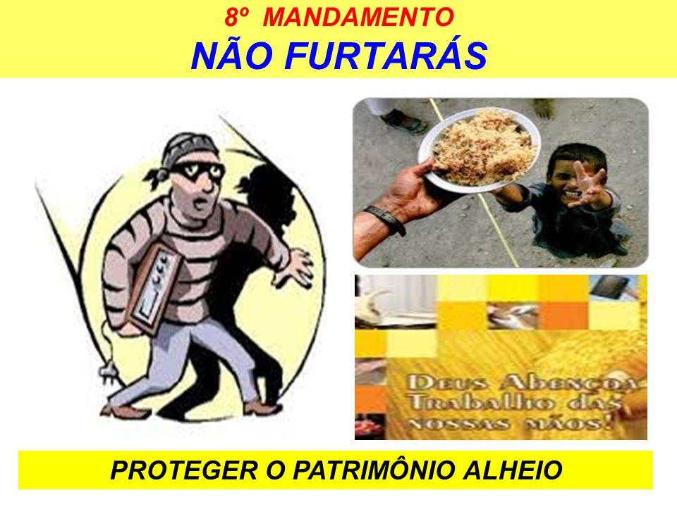 8º MANDAMENTO NÃO FURTARÁS PROTEGER O PATRIMÔNIO ALHEIO