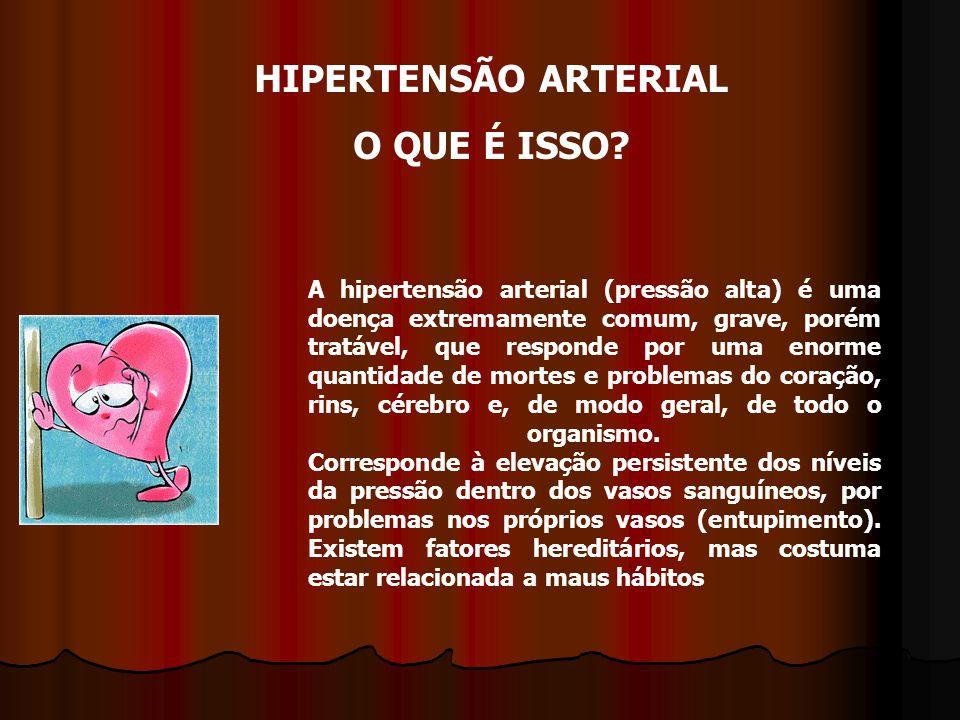 A hipertensão arterial (pressão alta) é uma doença extremamente comum, grave, porém tratável, que responde por uma enorme quantidade de mortes e problemas do coração, rins, cérebro e, de modo geral, de todo o organismo.