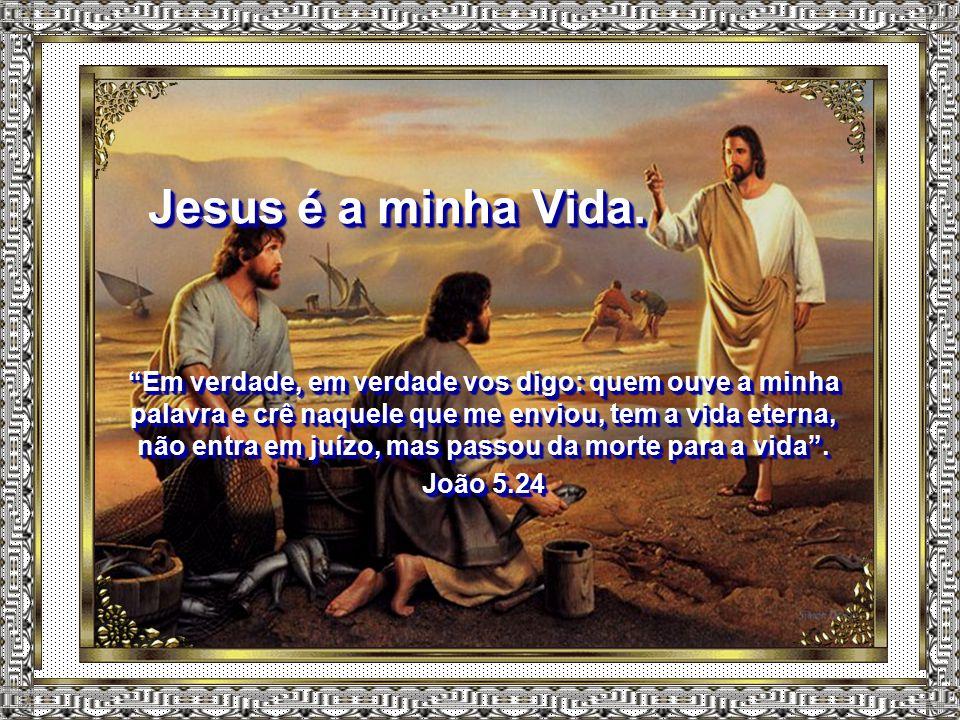 """Jesus é o meu Libertador. """"Se, pois, o Filho vos libertar, verdadeiramente sereis livres"""". João 8.36 """"Se, pois, o Filho vos libertar, verdadeiramente"""