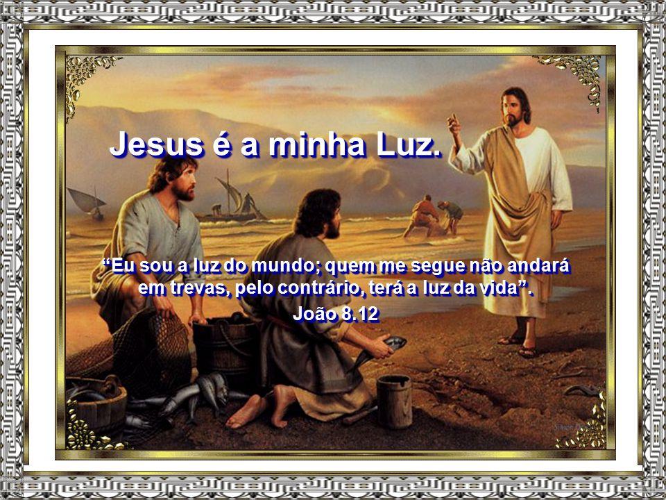 """Jesus é o meu Pastor. """"Eu sou o bom pastor; conheço as minhas ovelhas, e elas me conhecem a mim, assim como o Pai me conhece a mim, e eu conheço o Pai"""