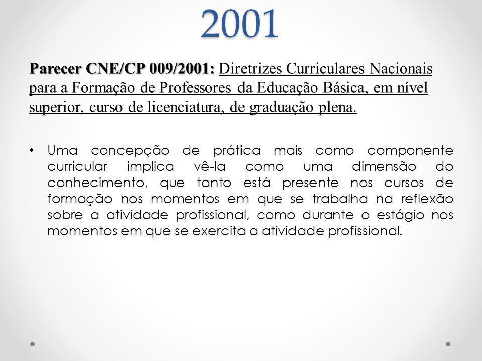 Parecer CNE/CP 009/2001: Parecer CNE/CP 009/2001: Diretrizes Curriculares Nacionais para a Formação de Professores da Educação Básica, em nível superi