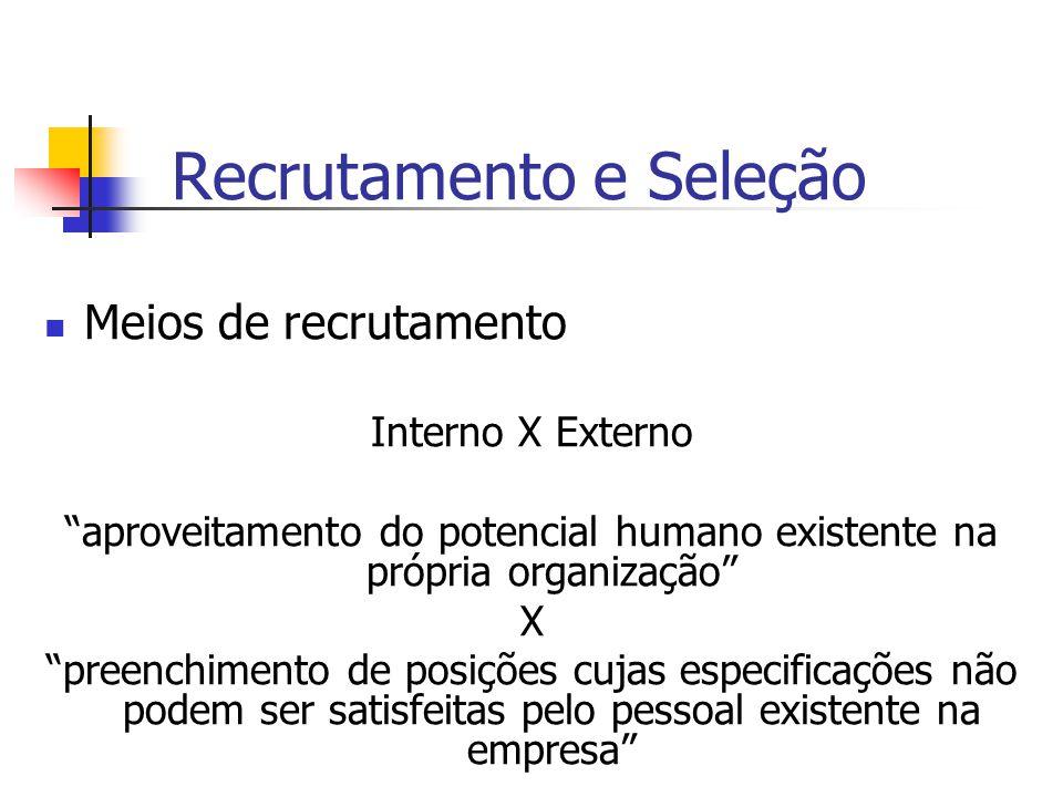 6 - Quais as técnicas utilizadas para recrutamento interno.