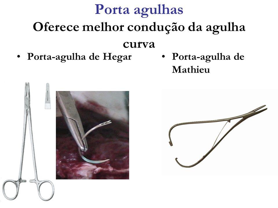 Porta agulhas Oferece melhor condução da agulha curva Porta-agulha de HegarPorta-agulha de Mathieu