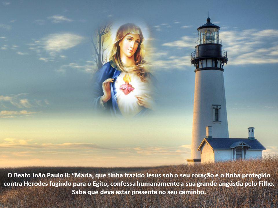 Santo Agostinho: De valor algum teria sido para ela a própria maternidade divina, se ela não tivesse levado Cristo no coração, com um destino mais afortunado de quando o concebeu na carne .