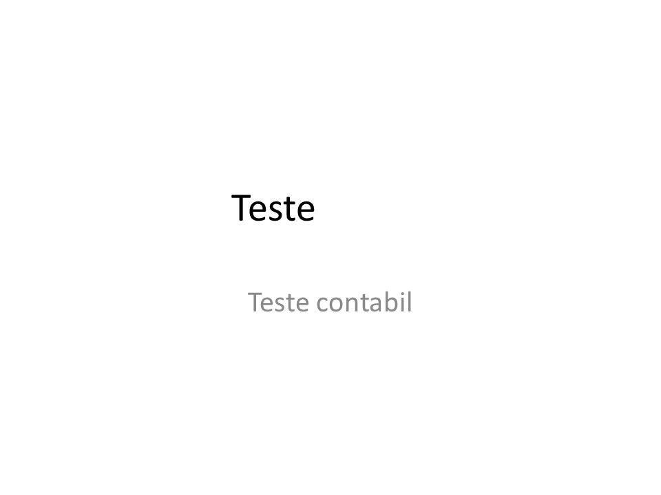 Teste Teste contabil