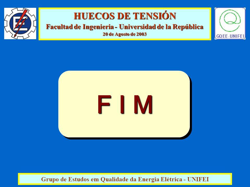 HUECOS DE TENSIÓN Facultad de Ingenieria - Universidad de la República 20 de Agosto de 2003 Grupo de Estudos em Qualidade da Energia Elétrica - UNIFEI F I M