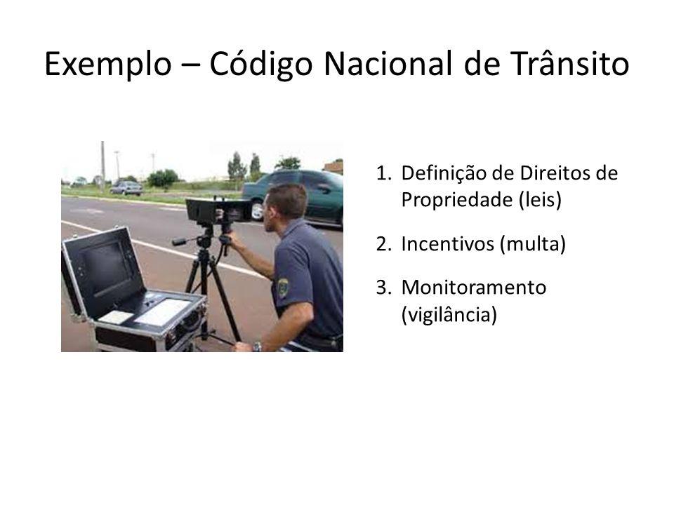 1.Definição de Direitos de Propriedade (leis) 2.Incentivos (multa) 3.Monitoramento (vigilância)