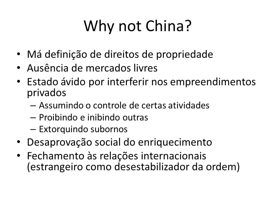 Why not China.