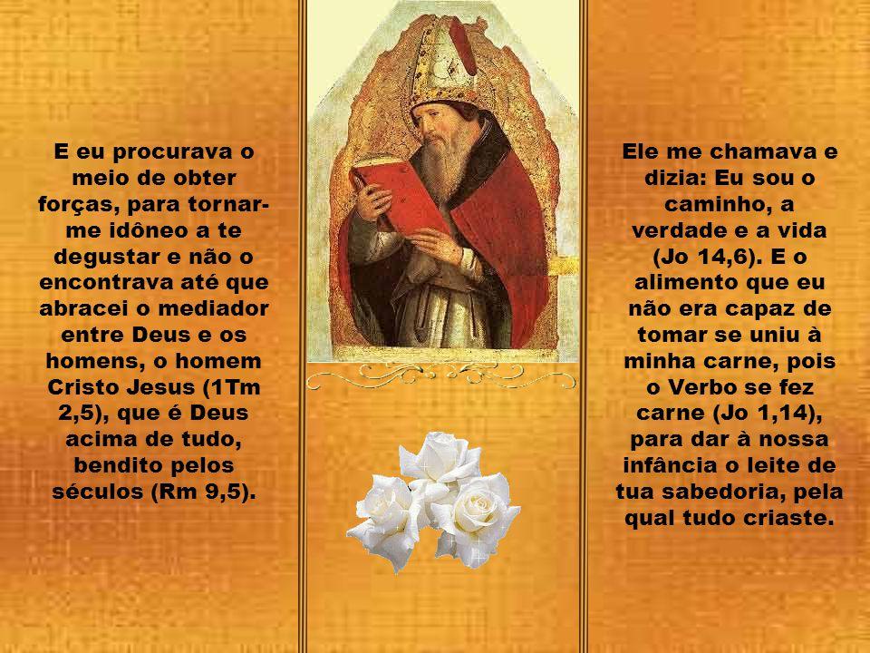 Ó eterna verdade e verdadeira caridade e cara eternidade! Tu és o meu Deus, por ti suspiro dia e noite. Desde que te conheci, tu me elevaste para ver