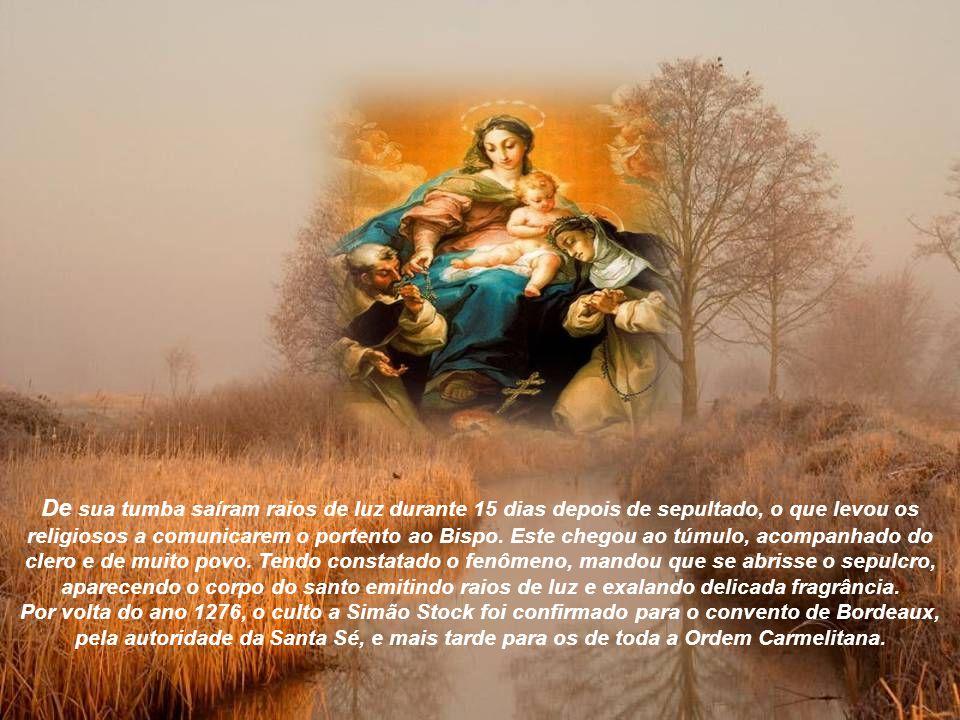 São Simão atingiu extrema velhice e altíssima santidade, operando inúmeros milagres, tendo também obtido o dom das línguas.