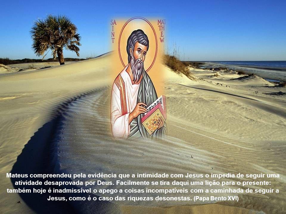 Um dia, depois de pregar, Jesus caminhava pelas ruas da cidade de Cafarnaum e encontrou com o cruel Levi. Olhou-o com firmeza nos olhos e disse: